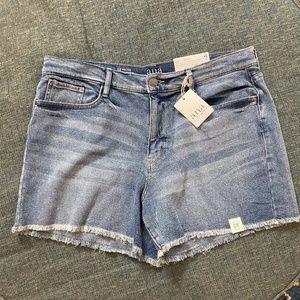 a.n.a high rise denim shorts